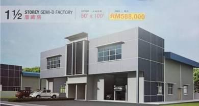 Pengkalan 1 1/2 Storey Semi D Factory