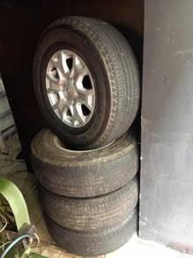 Ford ranger sport rim 16 inci tayar 255/70/16 seco