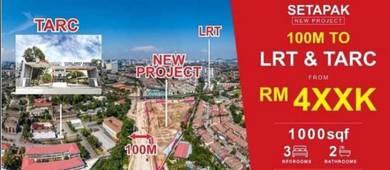 Next to LRT Melati & University 1000sf - 1300sf / 0% Down Payment/KL