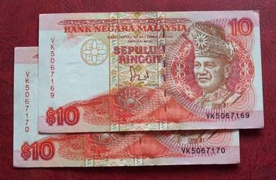 Wang Kertas Lama $10 VK5067169-70 (2pcs)