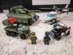 Police Army force building blocks like Lego