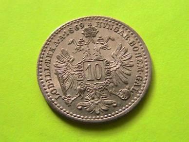 Austria 10 Kreuzer 1869 [Kod : A3060]