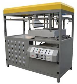 Semi auto vacuum forming and cutting machine