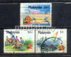 Use-d Stamp Vist Malaysia Year 1990