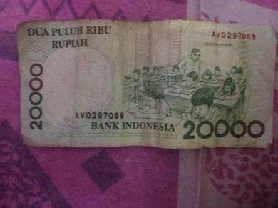 20000 Indonesian Rupiah Unc 1998