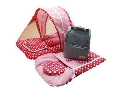 Set combo bulat tilam baby+Cooler bag Love house
