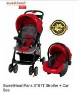 Sweet heart stroller & carseat