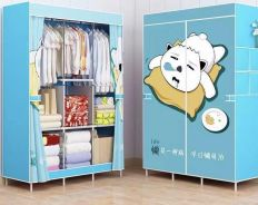 Cute Anime Cat Clothes Curtain Wardrobe