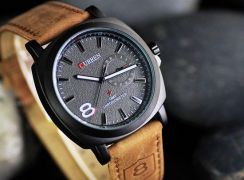 CURREN Outdoor Sport Leather Strap Watch unisex