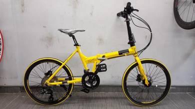Bicycle mongoose folding 20er 21sp hydraulic YLW