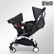 BLACK Baby Throne UPGRADED Stroller + Carrier