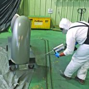 Kerja mengecat coating painting kapal,tangki