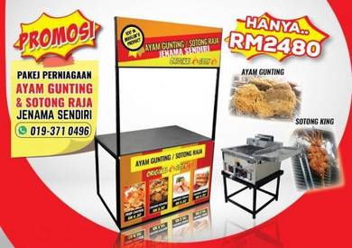 PROMOSI HEBAT!! Pakej Stall Ayam Gunting
