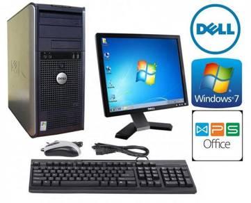 Dell 740 MT CoreX2 4GB Windows 7 Office PC Monitor