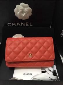 Woc chanel sling bag handbag beg tangan leather