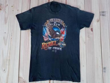 Vintage 3D Emblem Harley Davidson Shirt