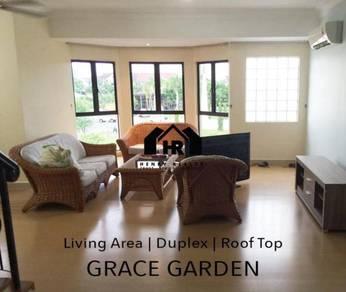 Grace garden / duplex / roof top / sembulan / airport / kk