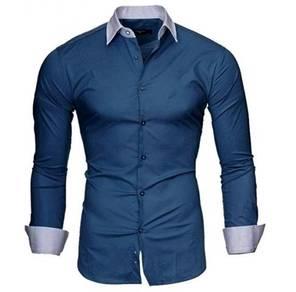 5120 Dark Blue Formal Casual Long Sleeved Shirt