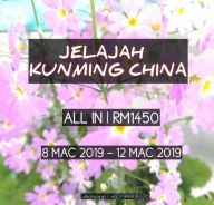 Trip budget musim bunga kunming mac 2019