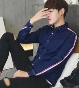 5006 Stylish Dark Blue Formal Long Sleeve Shirt