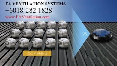PENDANG + ALOR SETAR Solar Powered Roof Ventilator