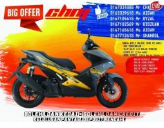 Yamaha nvx limited time promo ready stock