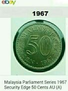 Duit syiling 50sen ~ 1967 Parlimen Malaysia.