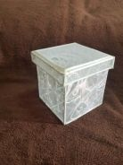 Square Metal Wire Box with Lid