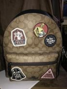 Coach bag pack small size starz wars limited edit