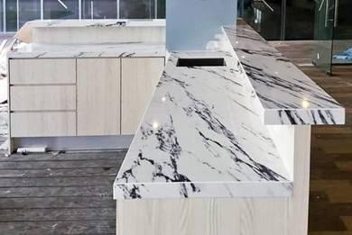 4G Quartz Table Top Kitchen Cabinet
