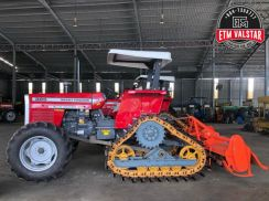 MF385 Tractor w/ D4D Track Undercarriage&Rotavator