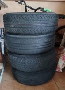 Tayar Tyre rim besi + FOC rim cover