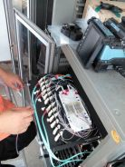 Fiber Optic Network Backbone Cabling and Splicing