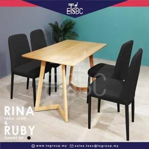 Rina table (120x70 cm ) + 4 ruby chairs