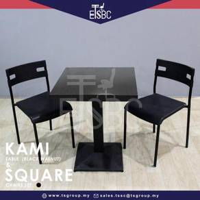 Kami table (60cm) + 2 square chairs