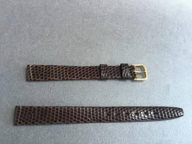 VINTAGE Genuine Lizard Leather Watch Strap 11mm