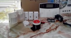 Gsm sms wireless alarm system