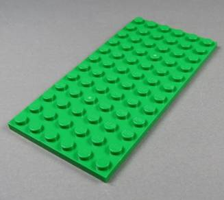 LEGO Green Color 6X12 Base Plate