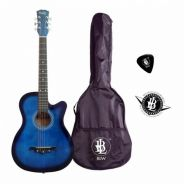 Beginner Guitar With Bag - Warna Biru (1)