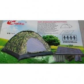 Camo military camping tent / khemah 05