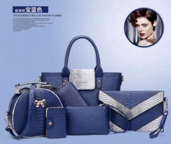 6in1 blue handbag set