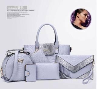 6in1 grey set handbag