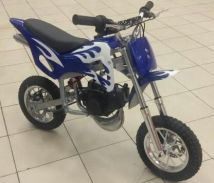 Dirt bike minibike Scramler 49 cc blue white#^t(