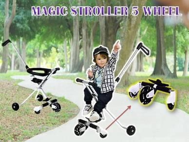 Magic stroller (5WHEEL + FENCE) H-3.88J