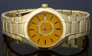 Alba Men Sapphire Date Gold Watch VJ42-X031GGS