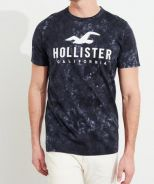Hollister Washed Graphic Tee - Blue