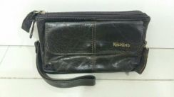 Kickers leather clutch bag