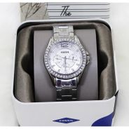 JAM FOSSIL Riley Multi-Function Silver Dial Ladies