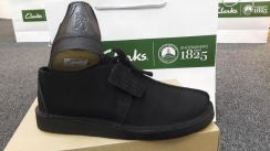 Mens CLARKS ORIGINAL Desert Trek Black Suede