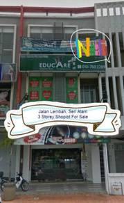 Bandar Seri Alam 3 Storeys Shop Lot for Sales Jalan Lembah (DC)